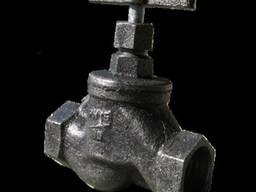 Вентиль чугунный муфтовый 15кч18п (15кч33п) Ру16