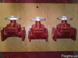 Вентиль чугунный PN16 ДУ 150, 250, 600 РУ 3, 6(фторопласт)