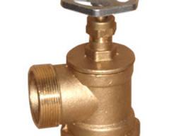 Вентиль латунный пожарный угловой ДУ 50 мм
