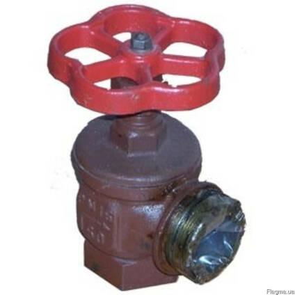 Вентиль пожарный угловой 15кч11р Ду50мм ВН чугунный муфтовый