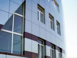 Вентилируемый фасад, фасадное остекление в Крыму выполним