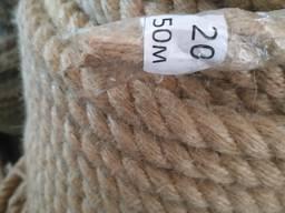 Веревка джутовая 10 - 50 мм