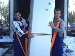 Вертикальная перевозка холодильника, Львов