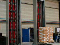 Вертикальный лифт для ящиков, паллет