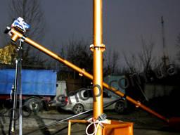 Вертикальный шнековый транспортер, погрузчик, шнек, конвейер, диаметр 133 мм.