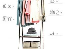 Вешалка для одежды складная с полками Wardrobe Hanger
