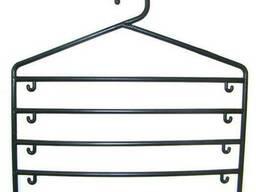 Вешалка пятирядная для брюк, шарфов, ткани цветная №09