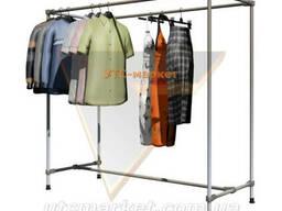 Вешалка-стойка для одежды двойная JS-2