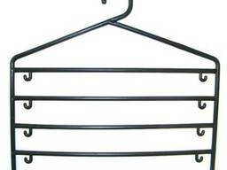 Вешалки-плечики для одежды с пластиковым крючком пятирядная