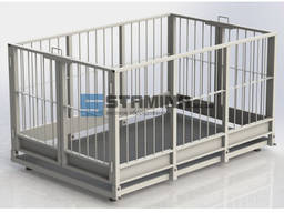 Весы для взвешивания животных 4BDU Х 1250х1250мм 300 кг - 15