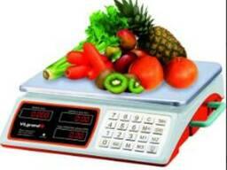Весы торговые 40 кг (сеть, аккум. , батарейка D) Vilgrand. ..