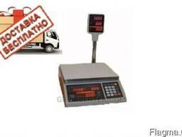 Весы торговые электронные для магазина ВТЕ-Центровес-30Т2-ДВ