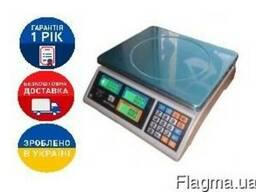 Весы торговые ВТЕ-Центровес-30Т1-ДВ-(ЖК) до 30 килограмм