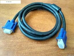 VGA видео кабель 1, 8м. Cетевой кабель питания 1, 5 метра
