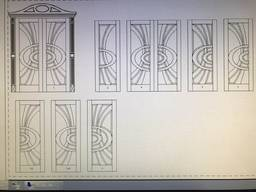 Вхідні двері двойні з вітражем, міжкімнатна дверь
