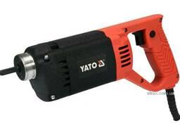 Вібратор для укладання бетону мережевий YATO 1200 Вт 3 м Ø35 мм з булавою