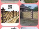 Вибропрессованные Декоративные Заборные Блоки Рваный Камень - фото 4