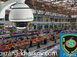 Видеонаблюдение для базара, торговой площадки установка