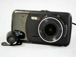 Видеорегистратор DVR T652 Full HD 1080p с камерой заднего вида Черный (mt-60)