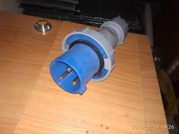 Вилка силовая электрическая, 220В, 63А, IP44, 2P E.