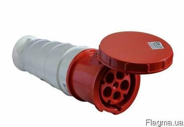 Вилка силовая переносная 225 3Р РЕ N 32А IP44. Цена указана