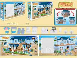 """Вилла на морском берегу """"Счастливая семья"""" 012-11 мебель, подсветка, в коробке"""