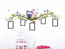 Виниловая наклейка на стену в детскую комнату, сад Совы. ..