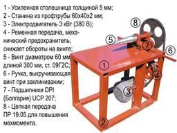 Винтовой электро-механический колун (топор) для заготовки др