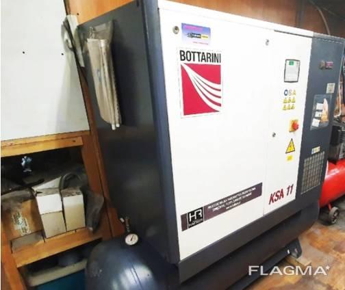 Винтовой компрессор бу Bottarini (11кВт; 1,5м3/мин; 10бар) рес.500л. осушитель