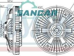 Віскомуфта DAF LF 45, 55 (205 мм, M30x2) без вентилятора муфти APUC331, 1408555. ..