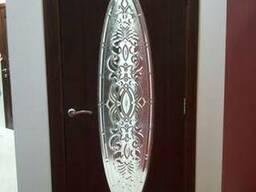 Витражи овальные дверные кристаллайт