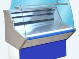 Витрина холодильная МХМ ВХС-1,2 Нова (с гнутым стекл.,нерж)