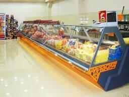Витрины холодильные для мяса, сыра, рыбы, гастрономии