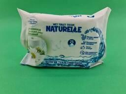 """Влажные туалетные салфетки """"Naturelle"""" 25 шт ромашка и комплекс витаминов (1 пач)"""