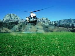 Внесение средств защиты растений СЗР авиатехникой Ан-2 Ми-2