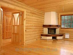 Внутренняя отделка деревом домов, веранд, балконов.