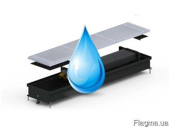 Внутрипольные конвектора отопления для влажных помещений