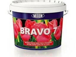 Водоэмульсионная акрил-латексная краска Mixon Bravo-7. 5 л