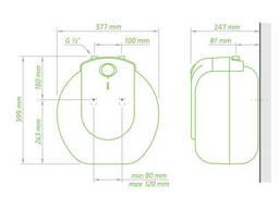 Водонагреватель Tesy Compact Line 10 л под мойкой, мокрый ТЭН 1,5 кВт (GCU1015L52RC). ..