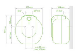 Водонагреватель Tesy Compact Line 15 л под мойкой, мокрый ТЭН 1,5 кВт (GCU1515L52RC). ..