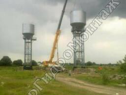 Водонапорные башни на стальных металлических опорах