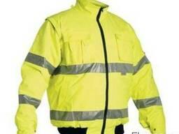 Водонепроникна утеплена коротка куртка на синтепоні.