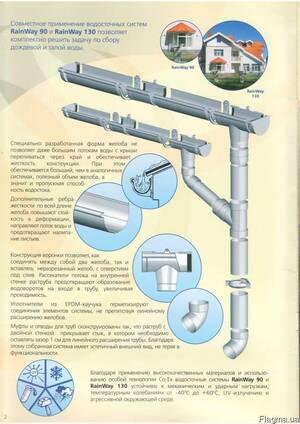 """Водосточная системы """"Rainway"""", диам.90/130мм"""