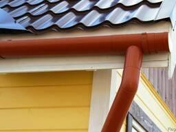 Водосточные системы из оцинкованной стали с полимерным покр.