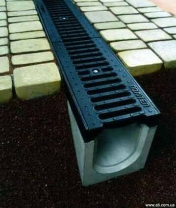 Водостоки, бетонные желоба, водоотвод