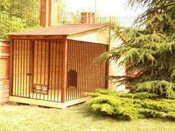 Вольер для собаки из дерева от производства под ключ