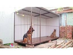 Вольер для собаки из металла