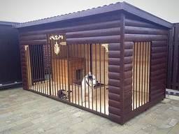 Вольера деревянные утепленные для средних и крупных собак