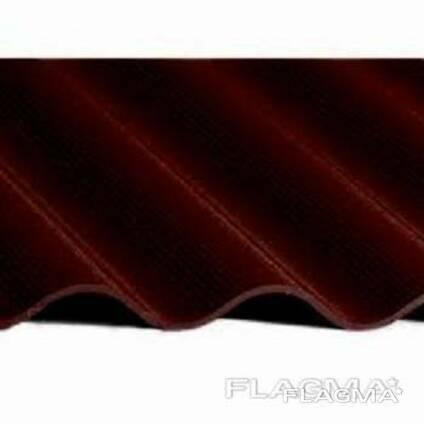 Волновой цветной шифер бордовый Ф- 1750 х 1130м