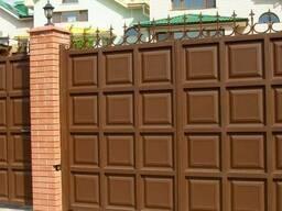 Ворота филёнчатые (шоколадка) под заказ